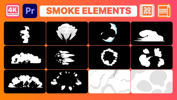 Thumbnail for Smoke Elements And Titles | Premiere Pro MOGRT