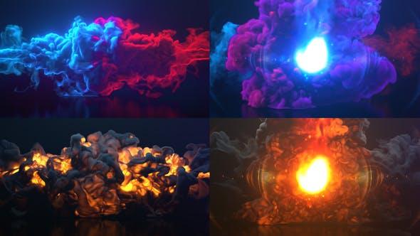 Colorful Smoke & Fire Logo