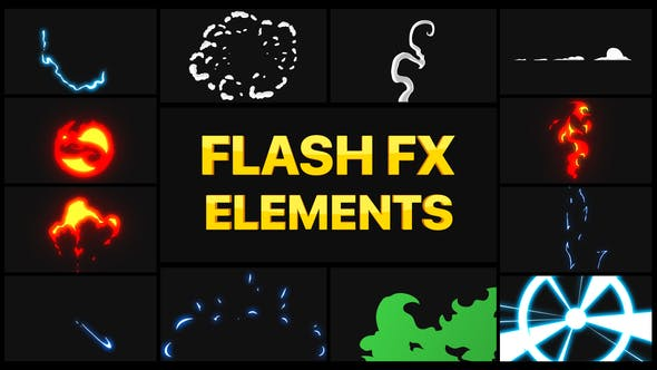 Пакет элементов Flash FX 02 | DaVinci