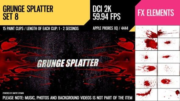 Thumbnail for Grunge Splatter (2K Set 8)