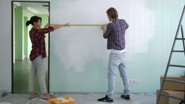 Thumbnail for Diy Couple Measuring Wall with Measuring Tape