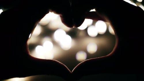 Heart Symbol On Lights Background