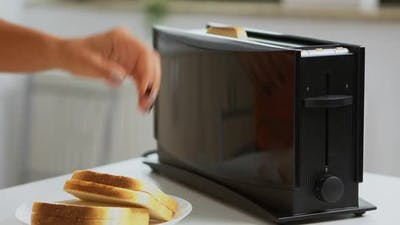 Roasting Bread on Electric Toaster