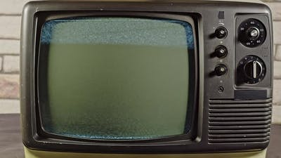 Old Tv No Signal Black And White Noise