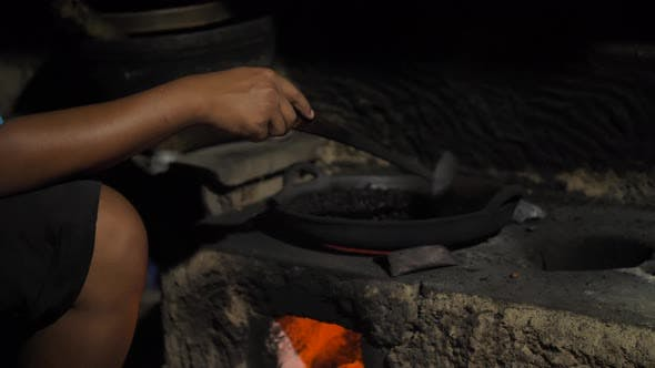 Thumbnail for Traditional Process Boil and Roasting Coffee on Coals