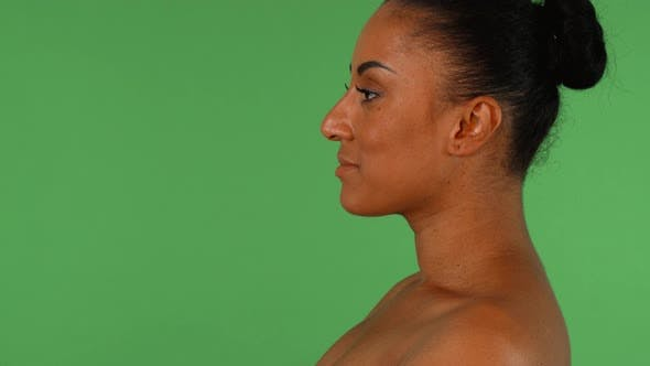 Thumbnail for Profile Shot of a Gorgeous African Woman on Chromakey Background