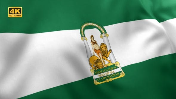 Andalusien-Flagge - 4K