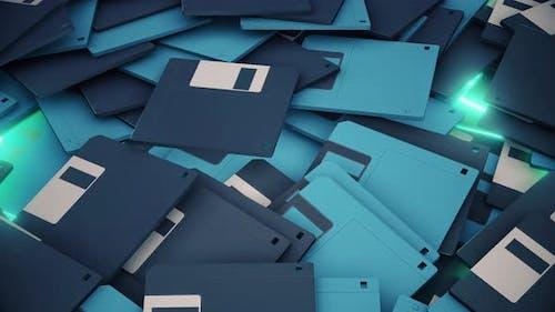 Old Floppy Disks 4k