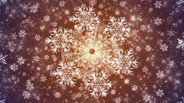 4k Snowflakes Seamless Bg