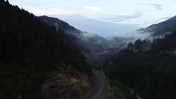 Cover Image for Aerial View Of Mountain Road