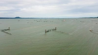 Fish Farm in the Sea