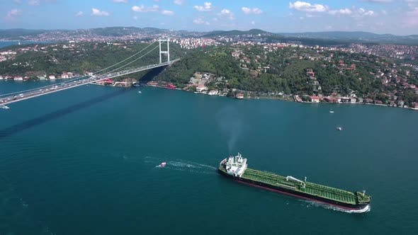 Cover Image for Bosphorus And Cargo Ship