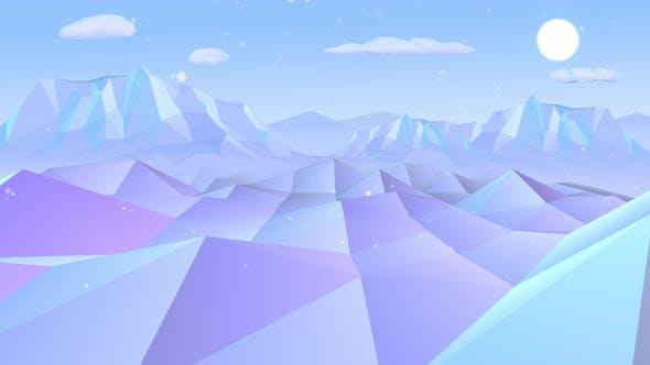 Thumbnail for Lowpoly Snow Mountain 4k