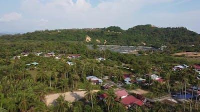 Overhead shot Malays rural