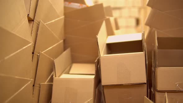 Thumbnail for View of the Boxes in the Warehouse