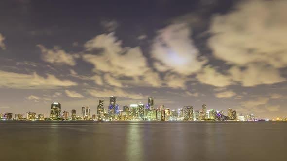 Thumbnail for Miami Urban Skyline at Night. Florida, United States of America