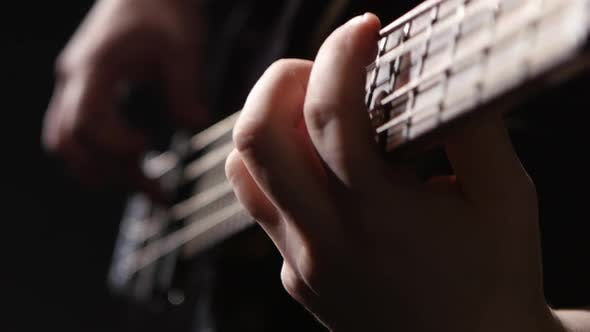 Thumbnail for Close Shot of the Strings on a Guitar