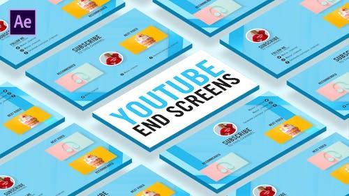 Glass Youtube End Screens