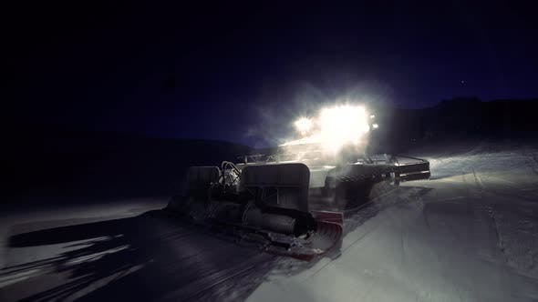Cover Image for Snowcat Working On The Piste