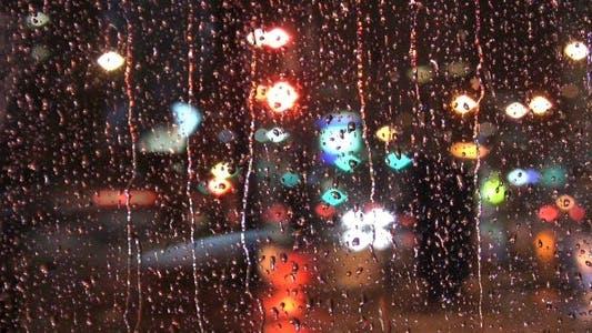 Thumbnail for Rainy Night Window - HD Loop