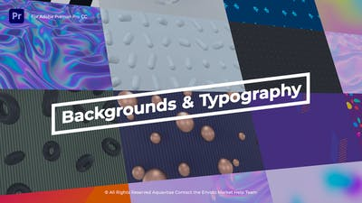 Animated Backgrounds & Titles l MOGRT for Premiere Pro