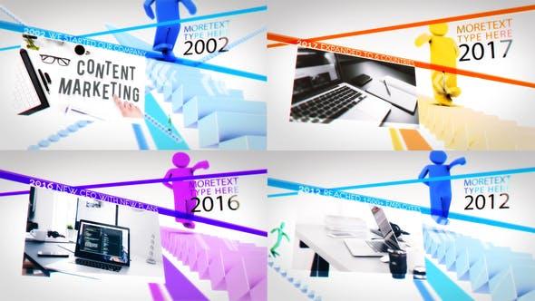 Thumbnail for Presentación de diapositivas de línea de tiempo de la empresa