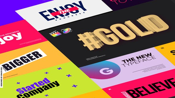 Banner Typography | for FCPX & Motion