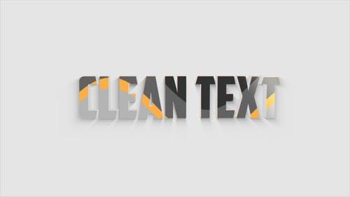 3D Clean Text Animation