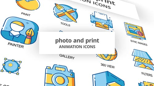 Photo & Print - Animation Icons