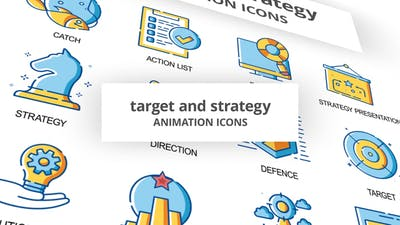 Target & Strategy - Animation Icons