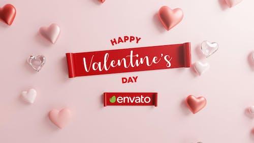Happy Valentine Logo Reveal 3D