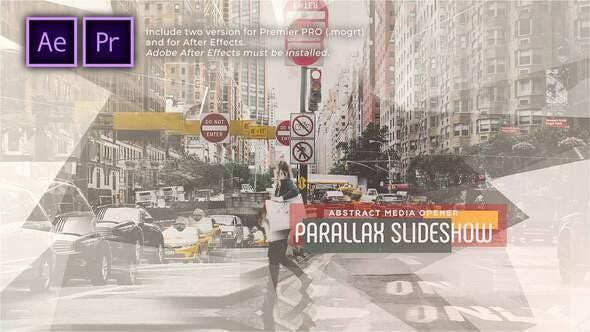 Presentación abstracta de diapositivas Parallax | Opener