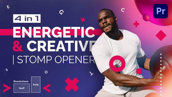 Energético y Creativo | Abridor de pisote | Mogrt