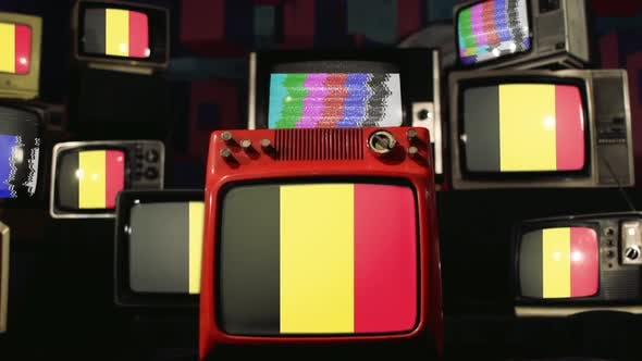 Thumbnail for Belgian flags and Vintage Televisions.