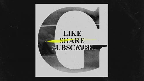 You Tube Like Share Subscribes Grunge Opener