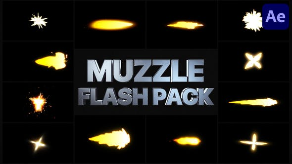 Muzzle Flash Pack 02 | After Effects
