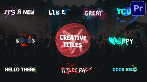 Creative Cartoon Titles   Premiere Pro MOGRT