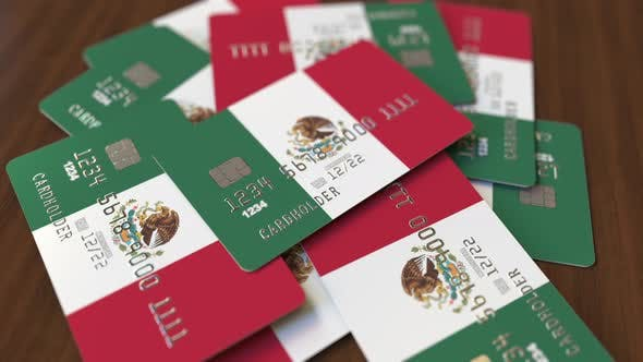 Thumbnail for Pile of Credit Cards with Flag of Mexico