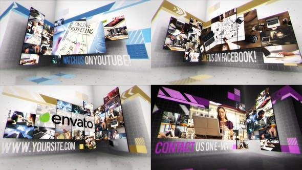 Creative Video Wall Presentation
