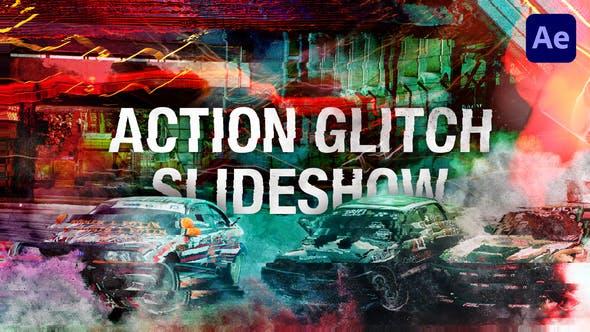 Action Glitch Slideshow