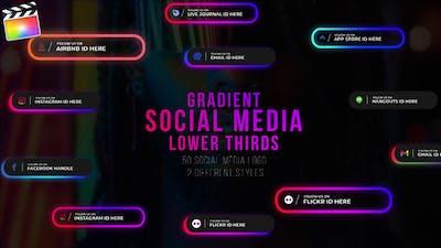 Gradient Social Media Lower Thirds