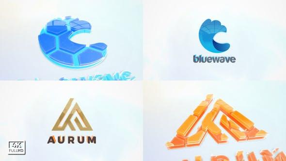 3D Clean logo Title