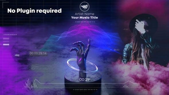 Hand Wave Music Visualizer