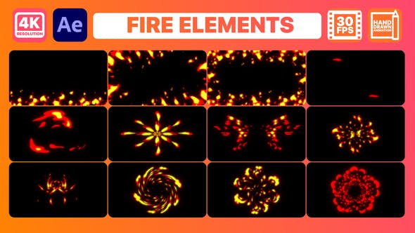 Fire Elements And Backgrounds | After Effects