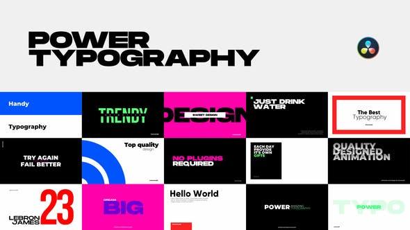 Power Typography