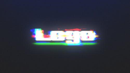 Fast Glitch RGB Logo Reveal