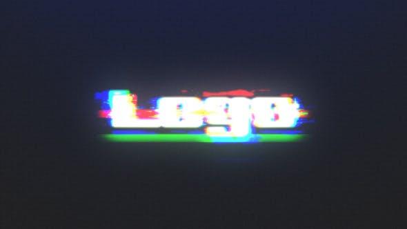 Schnelle Glitch RGB Logo Reveal