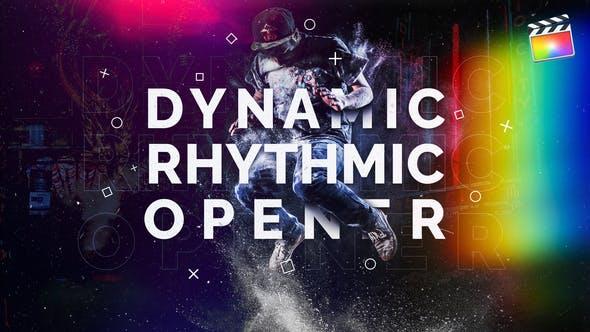 Dynamic Rhythmic Opener | For Final Cut & Apple Motion