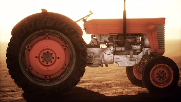 Thumbnail for Vintage Retro Tractor on a Farm in Desert