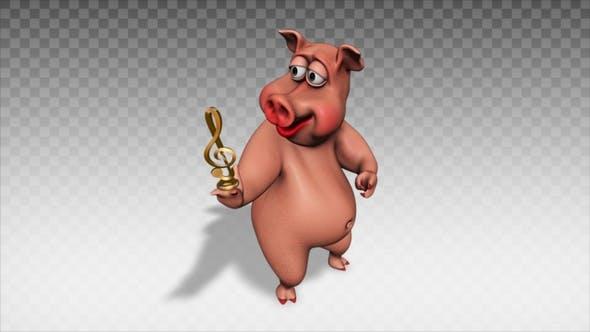 Thumbnail for Cartoon Pig - Show Musical Symbol